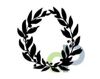 Laurel Berry Wreath-SVG file