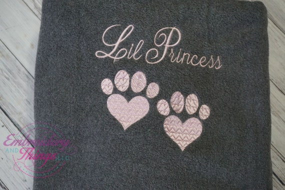 Personalized Dog or Cat Blankets- Large size for you and your pet to snuggle, or for large size dog