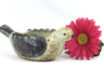Traditional Tonala Bird Planter - Vintage Home Decor