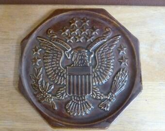 E Pluribus Unum Eagle ceramic trivet