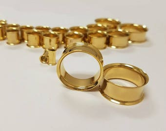 Gold Plated Double Flared Tunnel