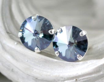 Mystique Earrings | Blue Gray Earrings | Swarovski Crystals | Stud Earrings | Wedding Jewelry | Bridesmaid Jewelry | Mystique Jewelry