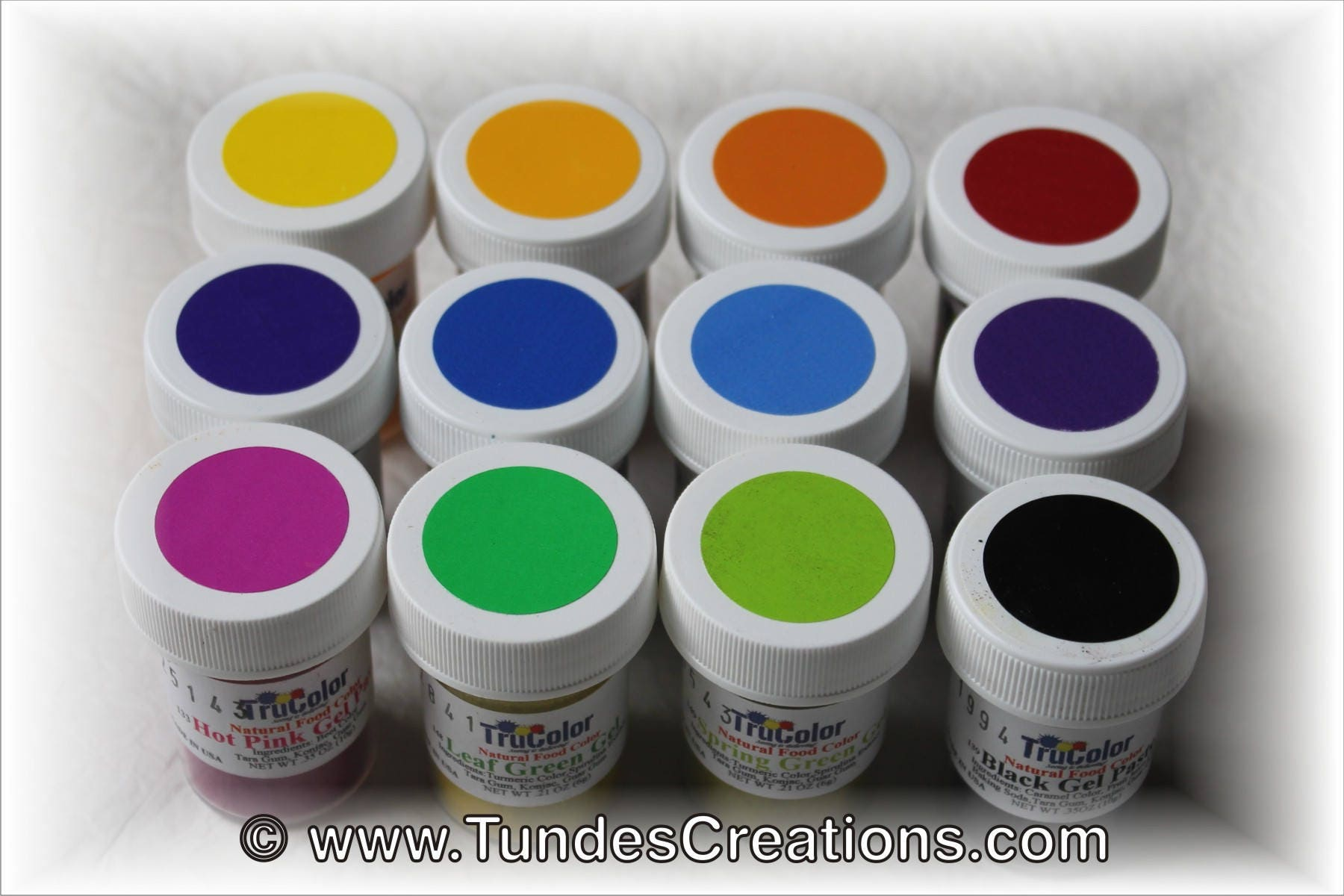 TruColor Gel Paste Collection - set of 12 natural food colors ...