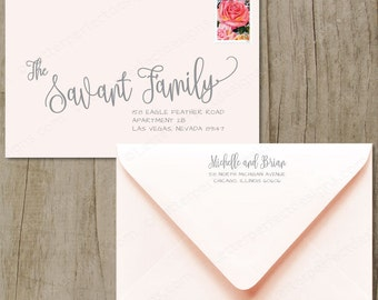 Custom Wedding Digital Calligraphy Envelope Addressing Printing - Charming