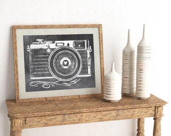 Edward Steichen Quote - Retro Camera - Horizontal Print - Frame Not Included