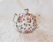 Vintage Chintz Sugar Bowl With Lid Japan