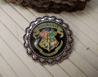 Hogwarts, brooch, harry potter