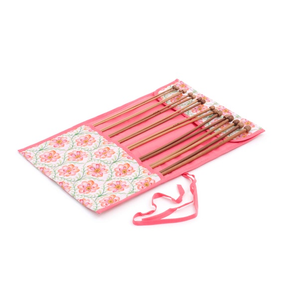 Knitting Needle Sets In Case Uk : Knitting needle roll filled with bamboo needles