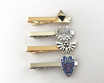 Zelda inspired tie clip Zelda's shield