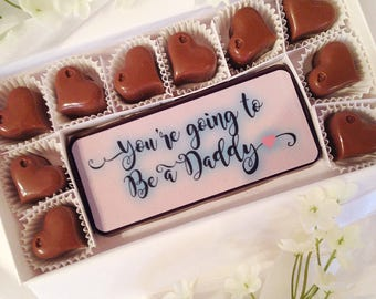You're Going To Be A Daddy Chocolates - We Are Expecting - Baby Announcement