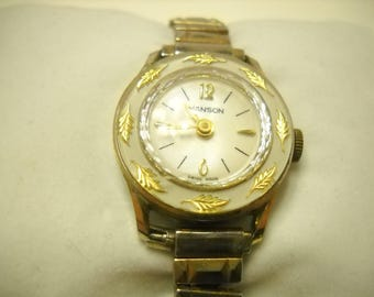 Vintage Manson Mechanical Wrist Watch (8657) Swiss Made--Works!