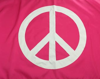 3'x5' Hot Pink Peace sign flag