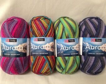 Viking of Norway's Sport Weight Superwash Wool/Nylon Blend Aurora Sock Yarn