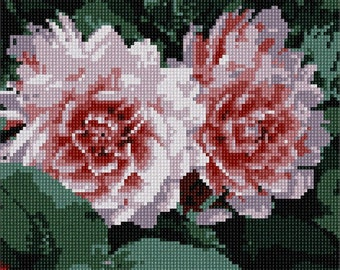 Needlepoint Kit or Canvas: Flowery