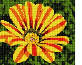 Needlepoint Kit or Canvas: Gazania