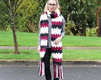 Liliana Super Scarf Crochet Pattern // Tutorial // Easy