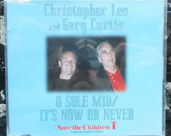 CHRISTOPHER LEE with Gary Curtis-O Sole Mio/It's Now Or Never- CD Single