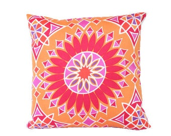 Schumacher Outdoor Pillow Cover in Orange