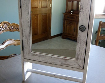Barnwood Bathroom Cabinet - Whitewashed