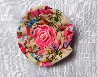 Flower Corsage, Flower Brooch, Textile Brooch, Fabric Brooch