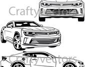 Chevrolet Camaro 2016 vector SVG cut file