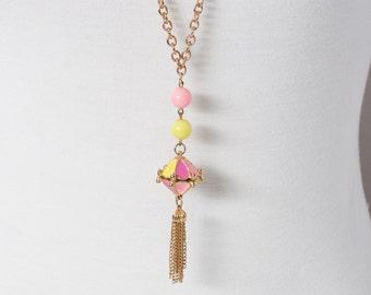 Vintage Carnival Style Tassel Necklace