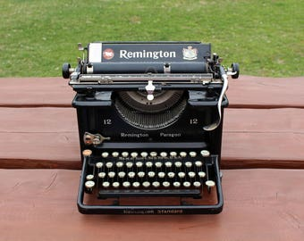 Antique typewriter Working typewriter 1928 American typewriter Remington Paragon 12 Antique typewriters Rare typewriter