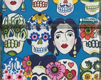 EcoBagIt! DAY of the DEAD XL - Keep Fresh reusable sandwich bag