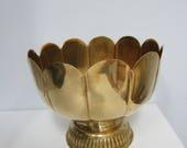 Brass pedestal planter/vase