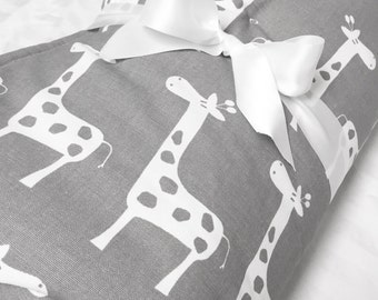 Baby Play Mat, Padded Play Mat, Gray Giraffe Mat, Baby Activity Mat, Baby Play Yard, Floor Mat, Floor Blanket, Large PlayMat, Holiday Gift