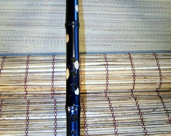 Renaissance Style Flute in key of F# minor,Stained Bamboo.