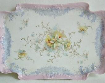 Antique Porcelain Vanity Tray