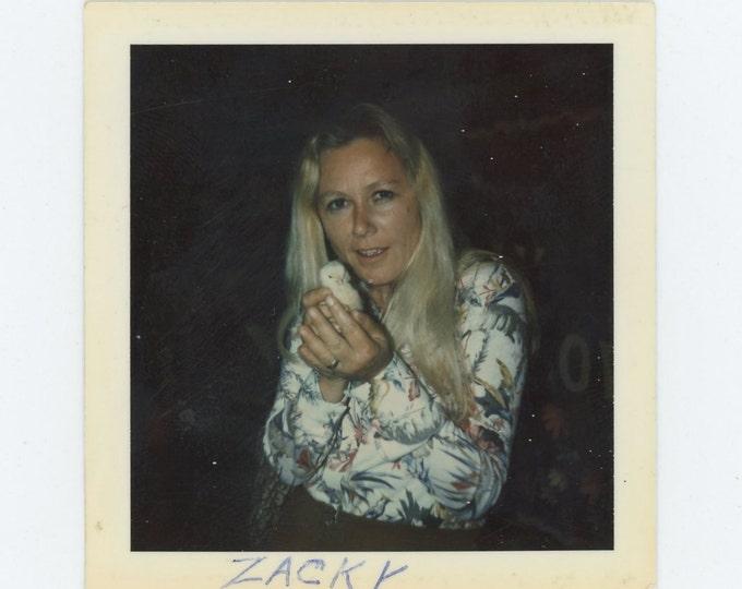 "Vintage Polaroid Snapshot Photo: ""Zacky"" (71541)"
