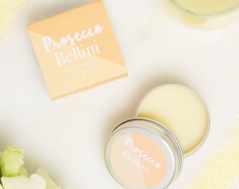 Prosecco Lip Balm - Top Prosecco gifts  - Lip Balm - Cocktail Lip Balm - Prosecco gift - Bellini Lip balm - mother day gift - mother day