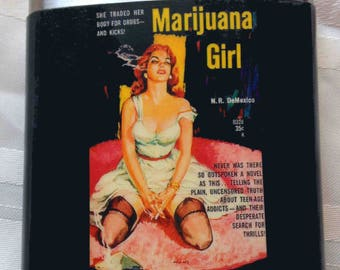 Marijuana Girl Flask