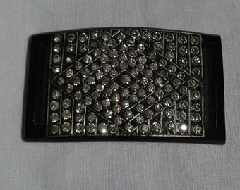 Lovely Decorative plastic and diamante belt slide.