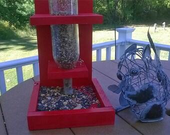 Recycled Wine Bottle Squirrel/Bird Feeder