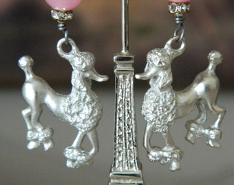 SALE 15% coupon code MARCH15 French Poodle Earrings by 58diamond
