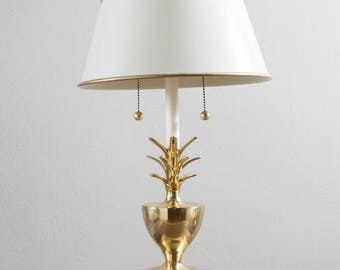 Vintage Brass Pineapple Table Lamp