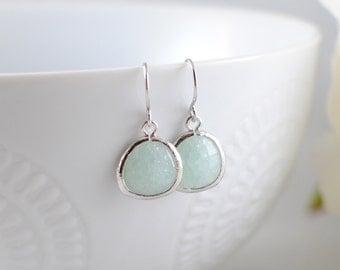 The Phoenix Anne Earrings - Soft Mint/Silver