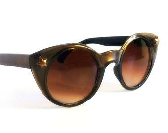 Vintage Cat Eye Sunglasses, Star Cateye Sunglasses, Deadstock Cateyes, Cat Eye Glasses, Womens Sunglasses