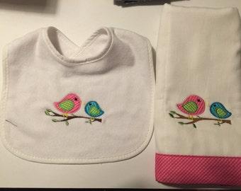 Baby burp or bib birds