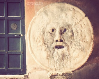 Mouth of Truth - Rome photograph, fine art photography, travel photo, Roman Holiday, Italy photo, Italian decor