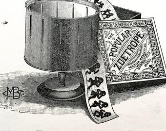 Massachusetts Advertising Circular for The Popular Zoetrope, Milton Bradey Co.ca 1870.