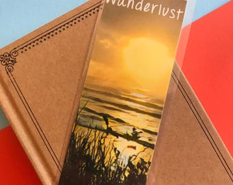 Wanderlust Bookmark, Travel Book mark, Hippie Bookmark, Explorer Book Mark, Traveler Bookmark, Sunset Quote, Reading Gift, Unique Books
