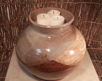 Custom - Stoneware Pottery Cremation Urn - Wheel Thrown Clay - Keepsake Cremains Jar For Family Member or Pet Ashes - IGNEOUS