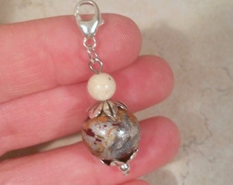 Custom Keepsake / Memorial Charm made from your Flower Petals or loved one's Hair or Pet fur - FLORAL TIDE Charm