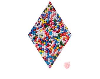 Rainbow Non pareils - 2 oz nonpareils Multi Color, Sprinkles, Toppings