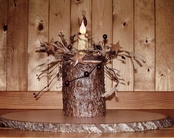 Wood Candle Holder, Rustic Log Candle Holder, Rustic Home Decor, Rustic Wedding Decor, Rustic Decor