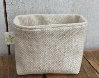 Tiny Linen + Cotton Basket
